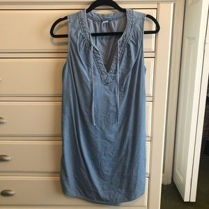 Sleeveless Dress in Denim Color